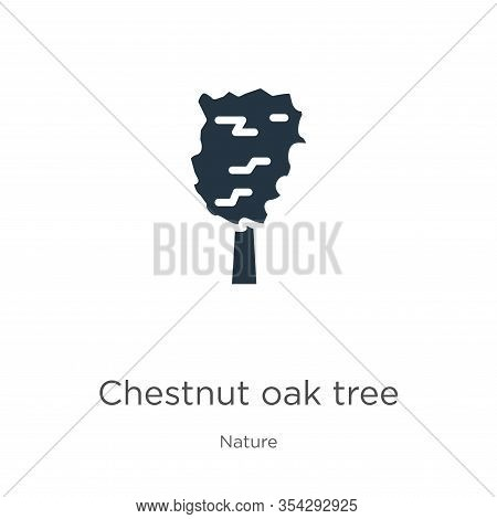 Chestnut Oak Tree Icon Vector. Trendy Flat Chestnut Oak Tree Icon From Nature Collection Isolated On