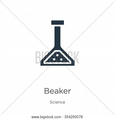 Beaker Icon Vector. Trendy Flat Beaker Icon From Science Collection Isolated On White Background. Ve