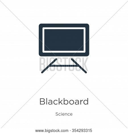 Blackboard Icon Vector. Trendy Flat Blackboard Icon From Science Collection Isolated On White Backgr