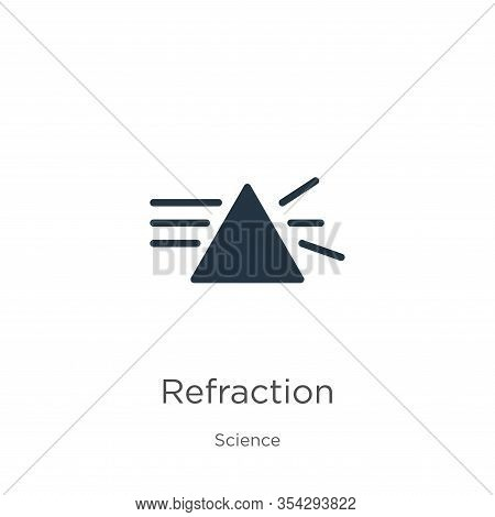Refraction Icon Vector. Trendy Flat Refraction Icon From Science Collection Isolated On White Backgr