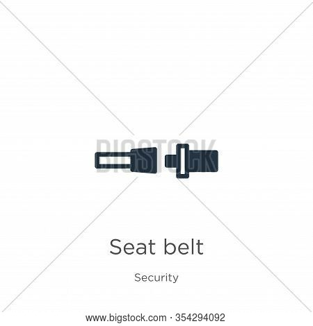 Seat Belt Icon Vector. Trendy Flat Seat Belt Icon From Security Collection Isolated On White Backgro