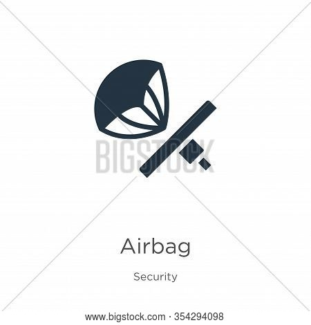 Airbag Icon Vector. Trendy Flat Airbag Icon From Security Collection Isolated On White Background. V