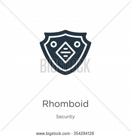 Rhomboid Icon Vector. Trendy Flat Rhomboid Icon From Security Collection Isolated On White Backgroun