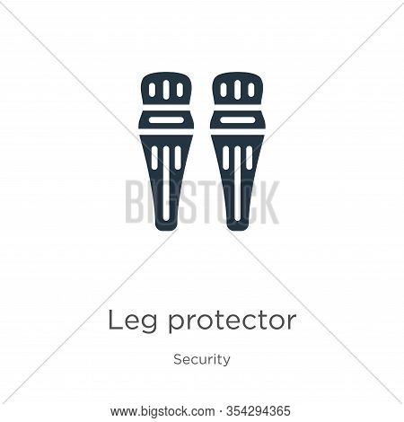 Leg Protector Icon Vector. Trendy Flat Leg Protector Icon From Security Collection Isolated On White