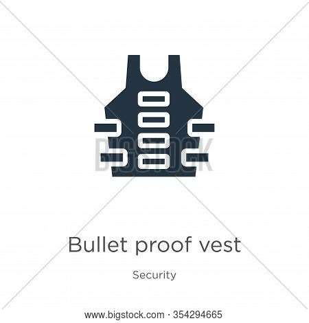 Bullet Proof Vest Icon Vector. Trendy Flat Bullet Proof Vest Icon From Security Collection Isolated