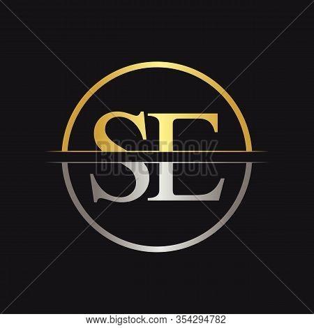 Initial Letter Se Logo Design Vector Template. Se Letter Logo Design
