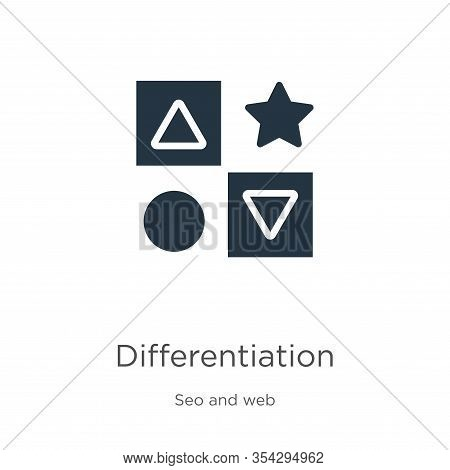 Differentiation Icon Vector. Trendy Flat Differentiation Icon From Seo And Web Collection Isolated O