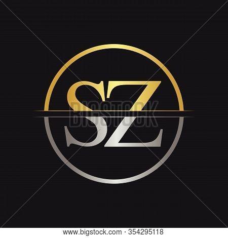 Initial Letter Sz Logo Design Vector Template. Sz Letter Logo Design