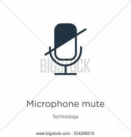 Microphone Mute Icon Vector. Trendy Flat Microphone Mute Icon From Technology Collection Isolated On