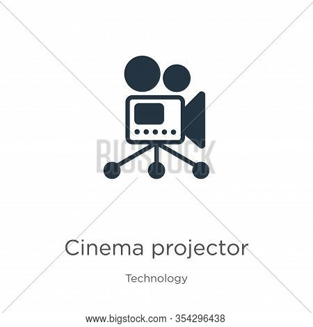 Cinema Projector Icon Vector. Trendy Flat Cinema Projector Icon From Technology Collection Isolated