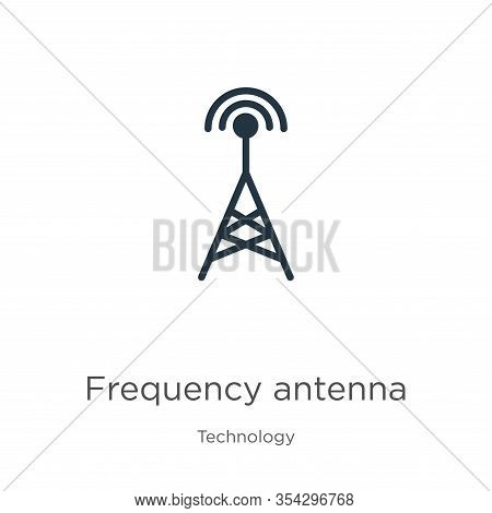 Frequency Antenna Icon Vector. Trendy Flat Frequency Antenna Icon From Technology Collection Isolate