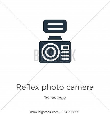 Reflex Photo Camera Icon Vector. Trendy Flat Reflex Photo Camera Icon From Technology Collection Iso