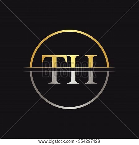 Initial Letter Th Logo Design Vector Template. Linked Typography Th Letter Logo Design