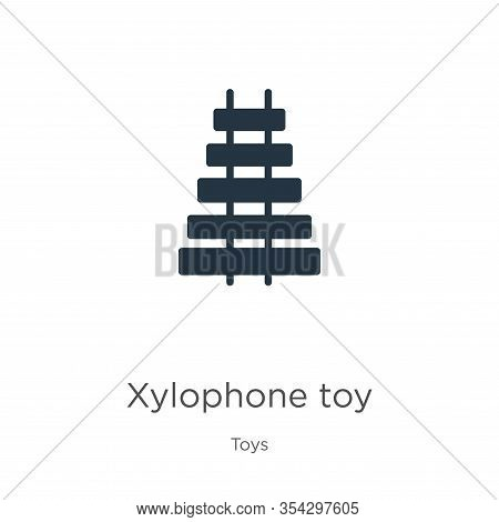 Xylophone Toy Icon Vector. Trendy Flat Xylophone Toy Icon From Toys Collection Isolated On White Bac