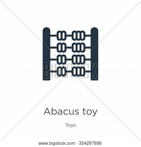 Abacus Toy Icon Vector. Trendy Flat Abacus Toy Icon From Toys Collection Isolated On White Backgroun