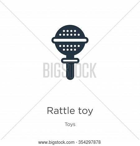 Rattle Toy Icon Vector. Trendy Flat Rattle Toy Icon From Toys Collection Isolated On White Backgroun