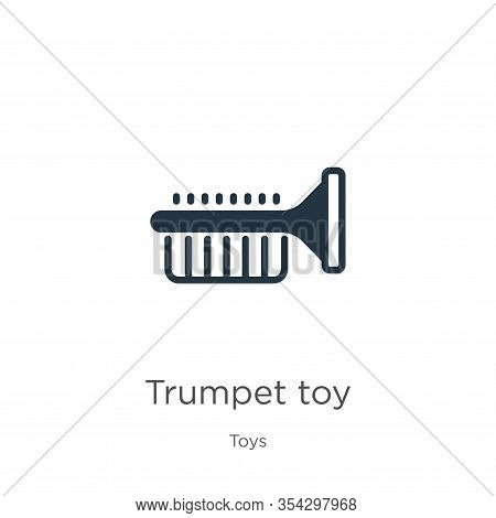 Trumpet Toy Icon Vector. Trendy Flat Trumpet Toy Icon From Toys Collection Isolated On White Backgro