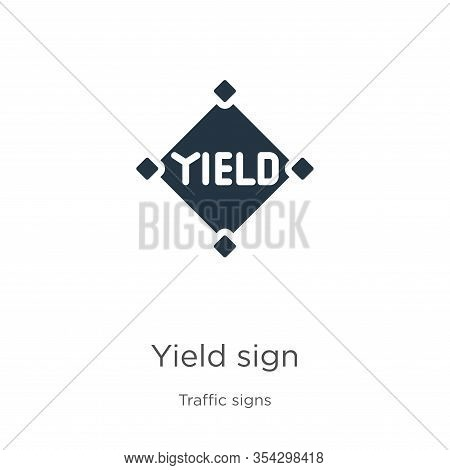 Yield Sign Icon Vector. Trendy Flat Yield Sign Icon From Traffic Signs Collection Isolated On White