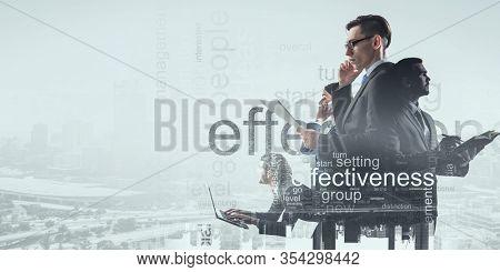 Productivity concept image . Mixed media