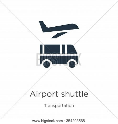 Airport Shuttle Icon Vector. Trendy Flat Airport Shuttle Icon From Transportation Collection Isolate