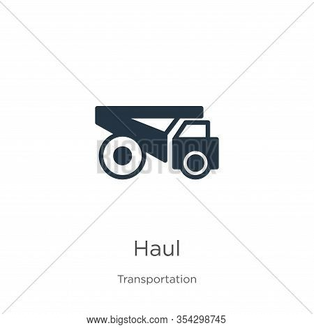 Haul Icon Vector. Trendy Flat Haul Icon From Transportation Collection Isolated On White Background.