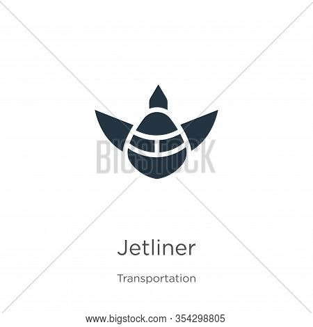 Jetliner Icon Vector. Trendy Flat Jetliner Icon From Transportation Collection Isolated On White Bac