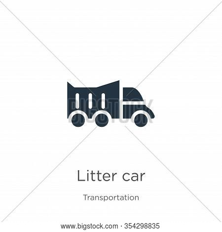 Litter Car Icon Vector. Trendy Flat Litter Car Icon From Transportation Collection Isolated On White