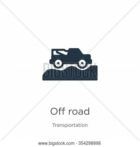 Off Road Icon Vector. Trendy Flat Off Road Icon From Transportation Collection Isolated On White Bac