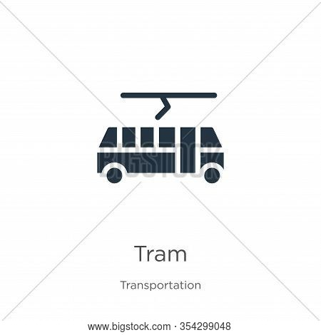 Tram Icon Vector. Trendy Flat Tram Icon From Transport Aytan Collection Isolated On White Background