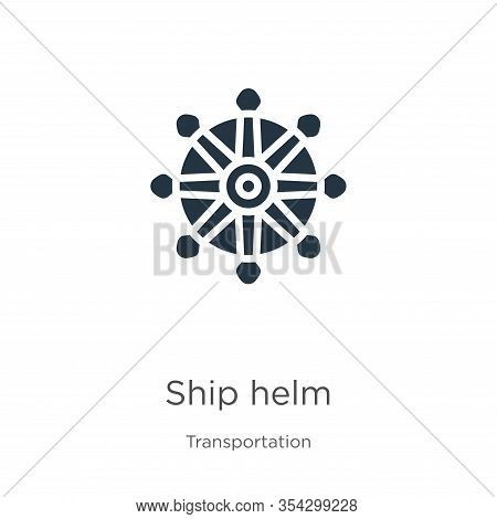 Ship Helm Icon Vector. Trendy Flat Ship Helm Icon From Transport Aytan Collection Isolated On White