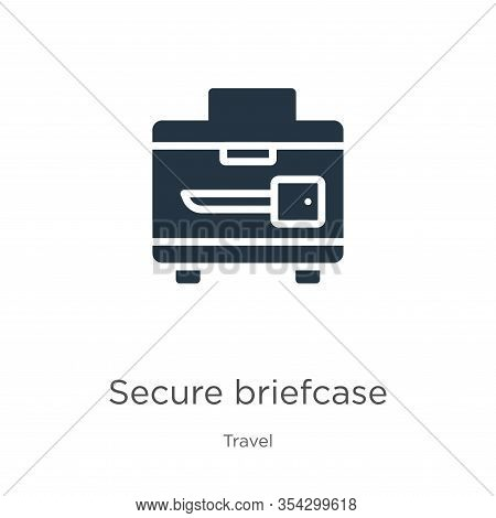 Secure Briefcase Icon Vector. Trendy Flat Secure Briefcase Icon From Travel Collection Isolated On W