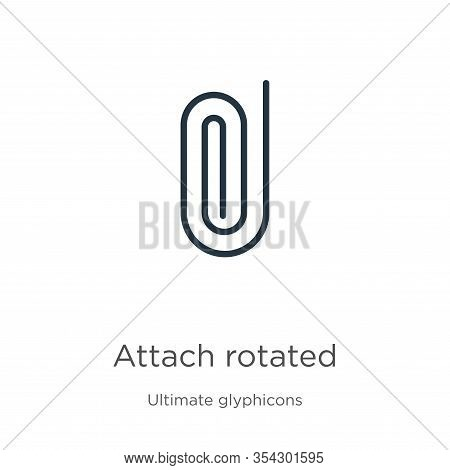 Attach Rotated Icon Vector. Trendy Flat Attach Rotated Icon From Ultimate Glyphicons Collection Isol