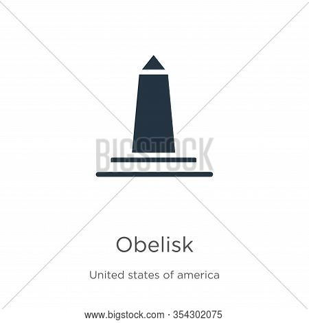 Obelisk Icon Vector. Trendy Flat Obelisk Icon From United States Of America Collection Isolated On W