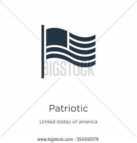 Patriotic Icon Vector. Trendy Flat Patriotic Icon From United States Of America Collection Isolated