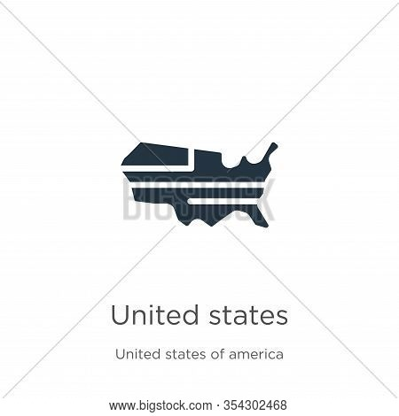 United States Icon Vector. Trendy Flat United States Icon From United States Collection Isolated On