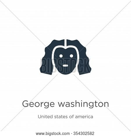 George Washington Icon Vector. Trendy Flat George Washington Icon From United States Collection Isol
