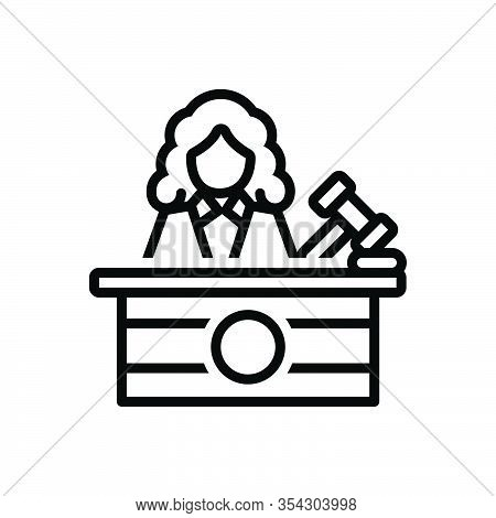 Black Line Icon For Judge Justice Magistrate Magistracy Syllogism Rectitude Court Judiciary Legal