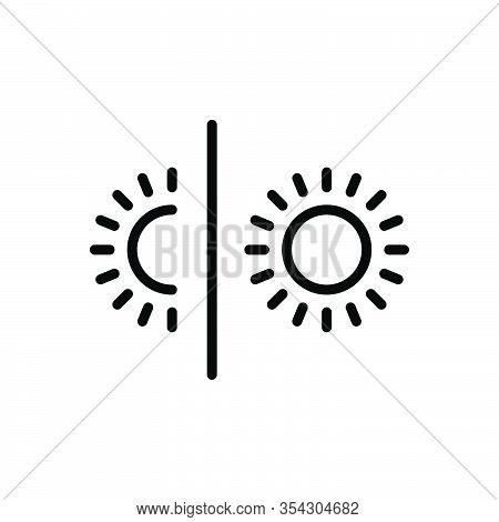 Black Line Icon For Vary Change Weather Season Climate Transformation Variation Lection Transmutatio