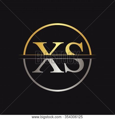 Creative Letter Xs Logo Vector With Gold And Silver Colors. Abstract Linked Letter Xs Logo Design