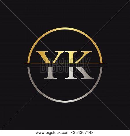 Initial Yk Logo Design Vector Template. Creative Letter Yk Business Logo Vector Illustration