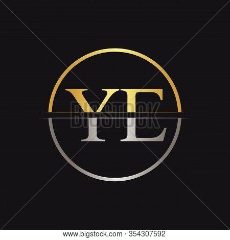 Initial Ye Logo Design Vector Template. Creative Letter Ye Business Logo Vector Illustration