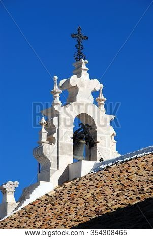 View Of The Carmen Church Bell Tower (iglesia Del Carmen), Estepa, Seville Province, Andalusia, Spai