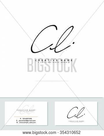C L Cl Initial Logo Signature Vector. Handwriting Concept Logo.