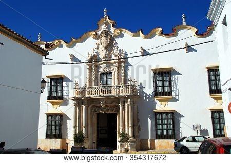 Osuna, Spain - November 13, 2008 - Front View Of The Marques Gomera Palace (palacio Del Marques De L