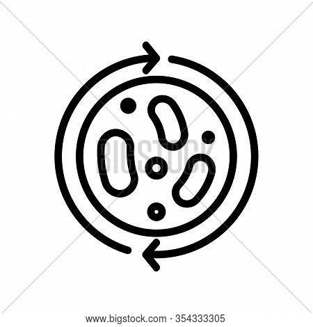 Probiotic Icon Vector. Thin Line Sign. Isolated Contour Symbol Illustration