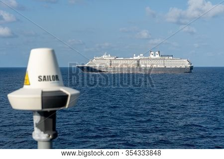 Gulf Of Siam, Thailand - Febuary 12, 2020: Ms Westerdam, Cruise Ship Owned By Holland America Line S
