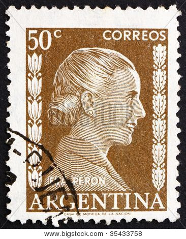 Postage stamp Argentina 1952 Eva Peron, Evita