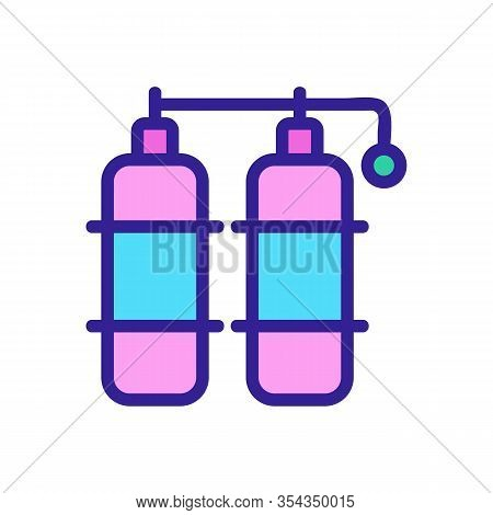 Gas Butane Icon Vector. Thin Line Sign. Isolated Contour Symbol Illustration