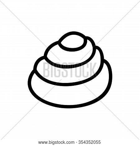 Seashell Icon Vector. Thin Line Sign. Isolated Contour Symbol Illustration