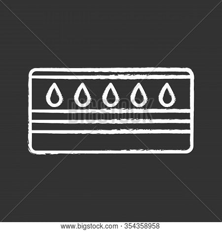 Water Mattress Chalk Icon. Waterbed. Flotation Mattress. Bedding. Isolated Vector Chalkboard Illustr